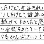 H25.7.9 K.K. 様 (女性) 10代